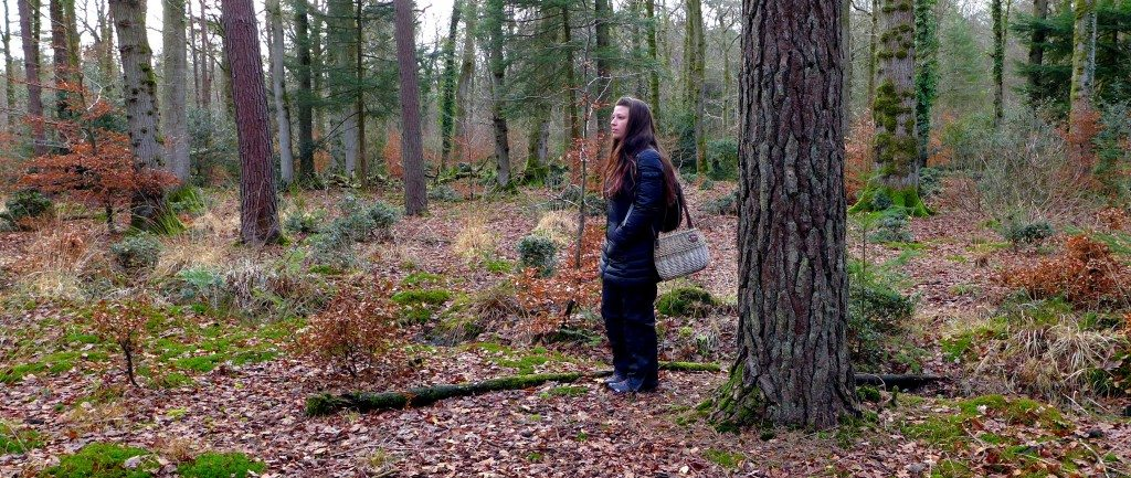Lisa C in the woods