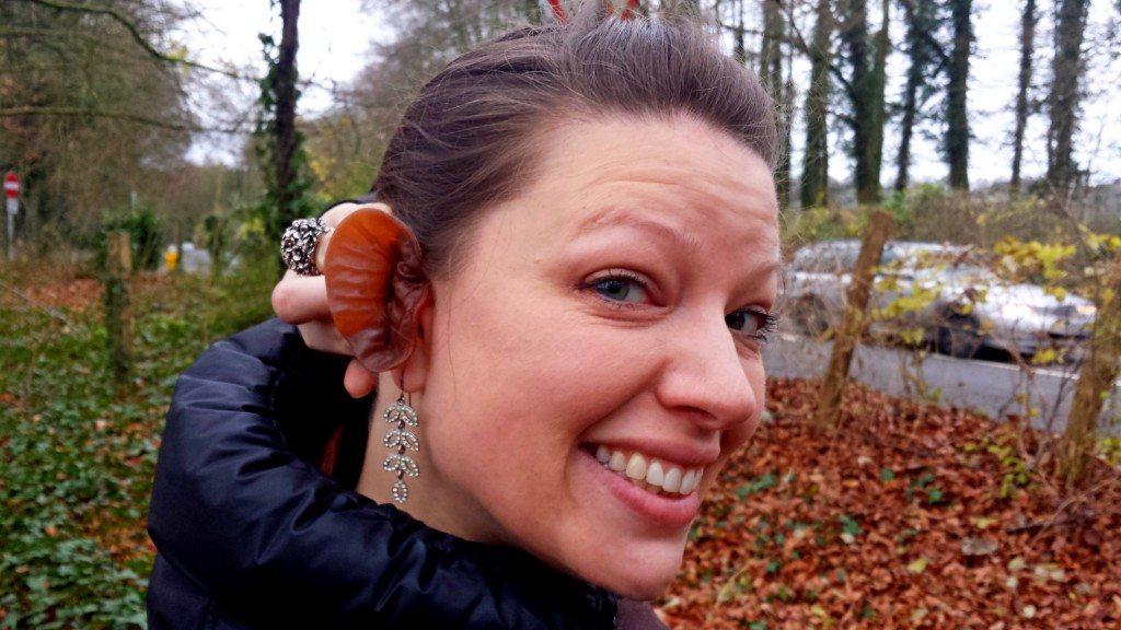 Lisa sporting a jelly ear