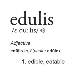 Definition of 'edulis'